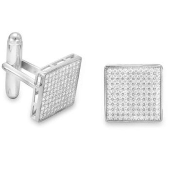 Evolving Always Other - New Sterling Silver CZ Pave Cuffs